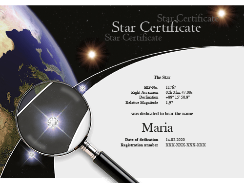Certificate with Swarovski® Crystals